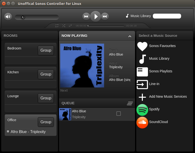 Unoffical sonos controller for linux 0.1.8 gnulinux.ro